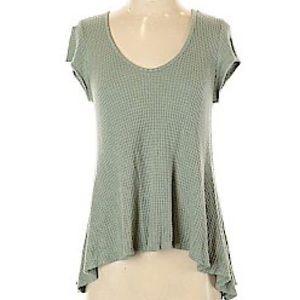 Distressed Boho Green Knit Sweater